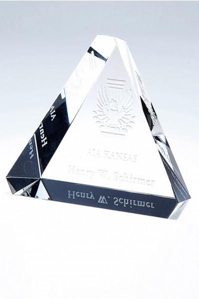 Trophée en verre : Pyramide 2