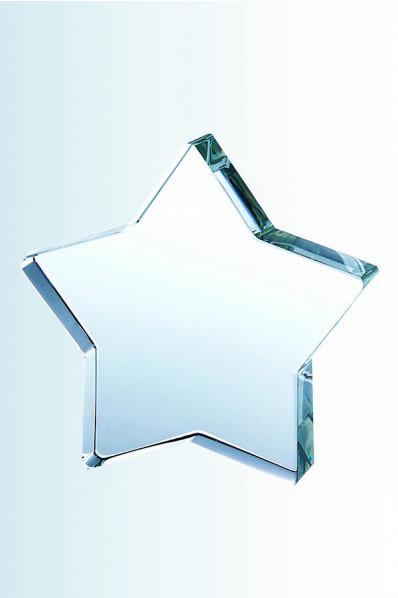 Trophée en verre :  Etoile