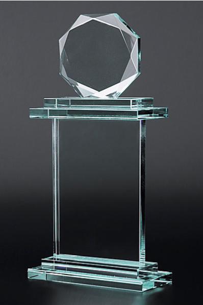 Trophée en verre : Totem design