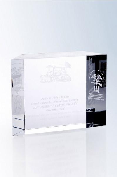 Trophée en verre : Cube en verre