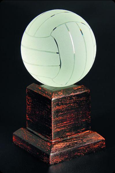 Trophée en verre : Volley-ball
