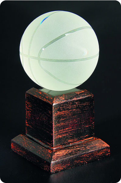 Trophée en verre : Basket- ball