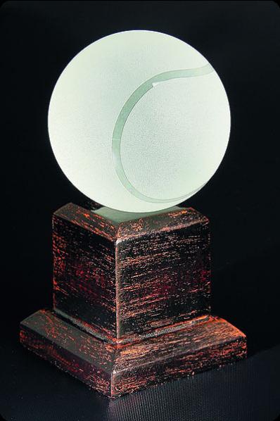 Trophée en verre : Tennis