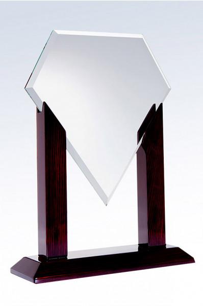 Trophée en verre : Diamant stylisé