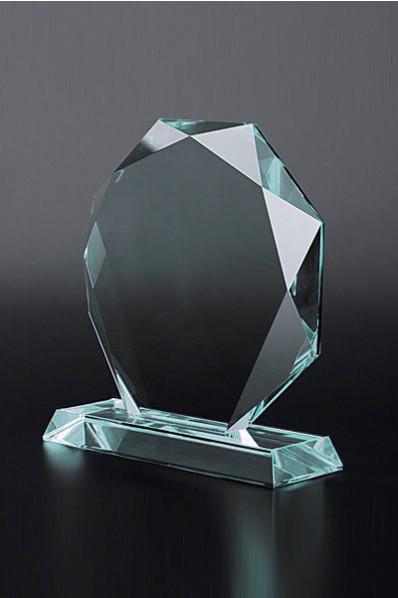 Trophée en verre : Plaque ronde