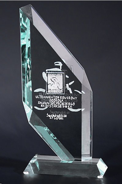Trophée en verre : Plaque diamant