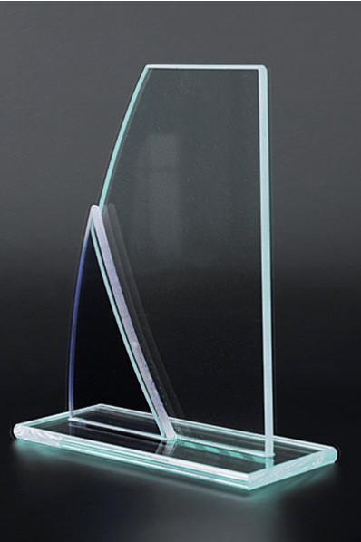 Trophée en verre : Voile de bateau