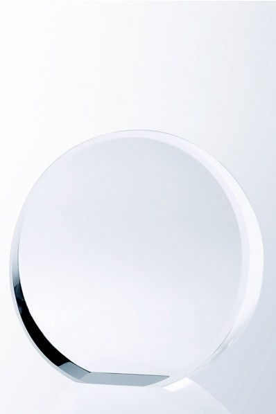 Trophée en verre : Simple rond