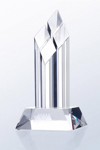 Trophée en verre : Quatre colonnes