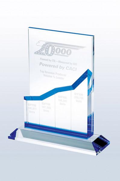 Trophée en verre : Bourse en hausse 2