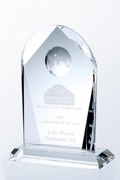 Trophée en verre : Plaque 3
