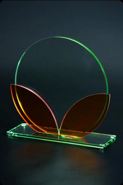 Trophée en verre : Coloré
