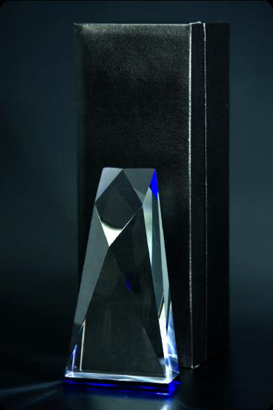Trophée en verre :  Trapézoïdal