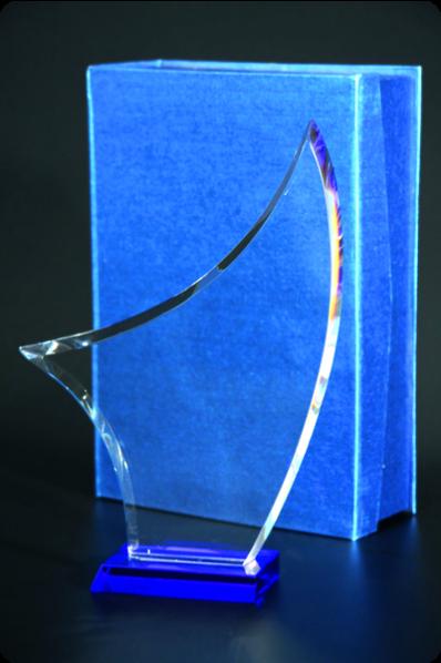 Trophée en verre : Voile