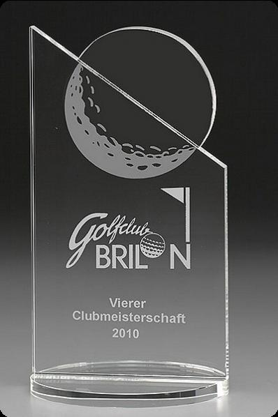 Trophée en verre : Golf 8