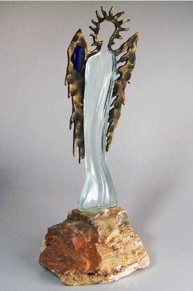 Trophée en verre : Statuette artistique
