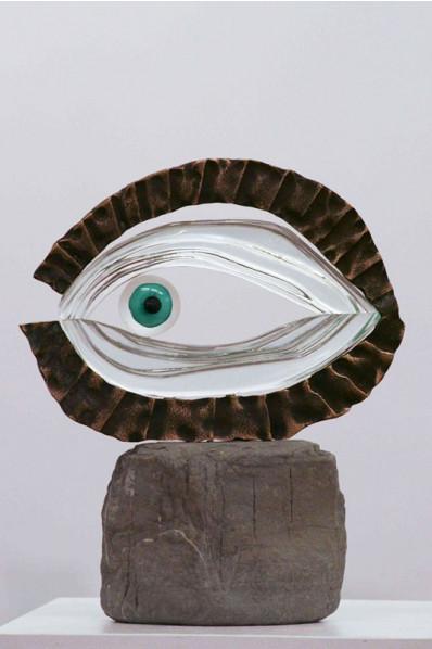 Trophée en verre : L'œil