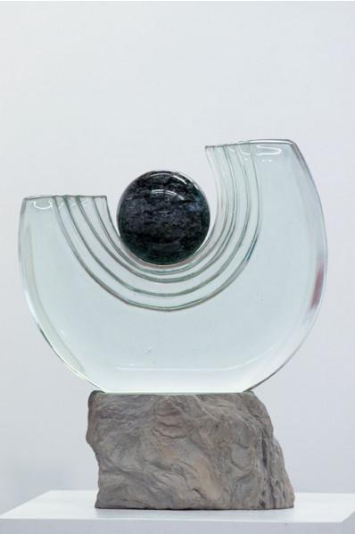 Trophée en verre : Humain