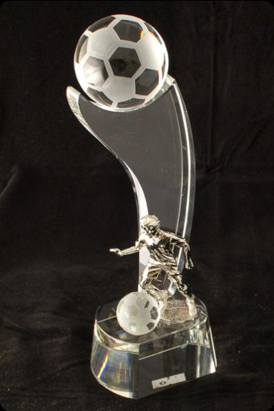 Trophée en verre : Ballon football 2