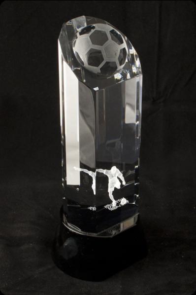 Trophée en verre : Ballon football 3