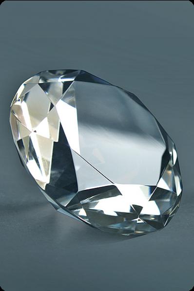 Trophée en verre : Presse-papier diamant 2