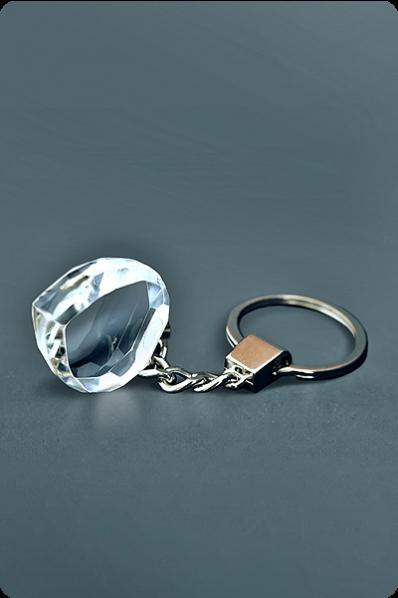 Trophée en verre :  Porte-clés cœur