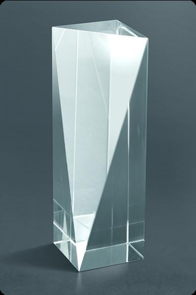 Trophée en verre : Totem coupé
