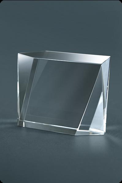 Trophée en verre : Cube décoratif