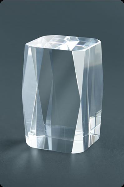 Trophée en verre : Rectangle coupé symétriquement