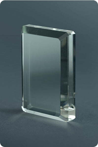 Trophée en verre : Plaque irrégulière