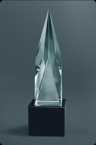 Trophée en verre : Statuette flèche 2