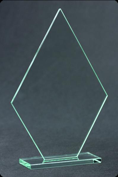Trophée en verre : Plaque fine flèche