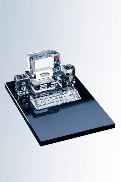 Machine à écrire en verre