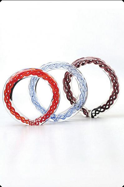Trophée en verre : Bracelet en verre coloré