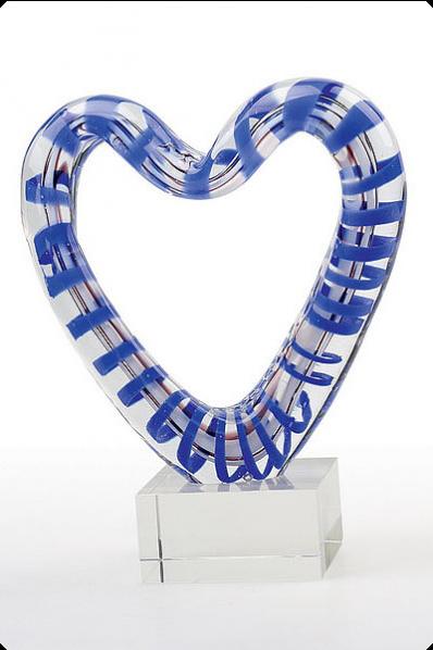 Trophée en verre : Cœur en verre