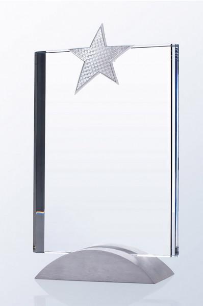 Feuille en verre étoile