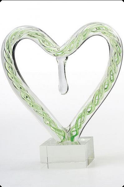 Trophée en verre : Cœur en verre 3