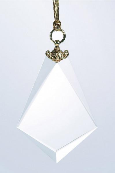 Médaille verre blanc
