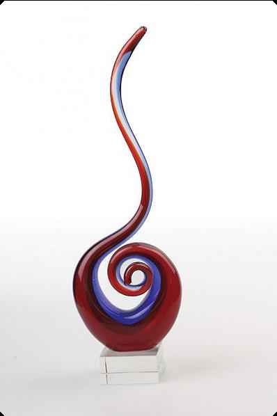 Trophée en verre :  Cobra en verre
