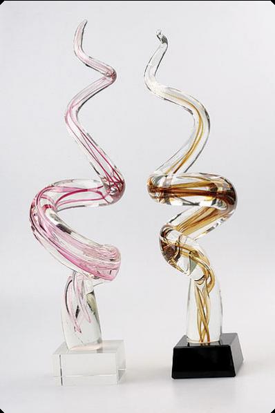 Trophée en verre : Torsadé