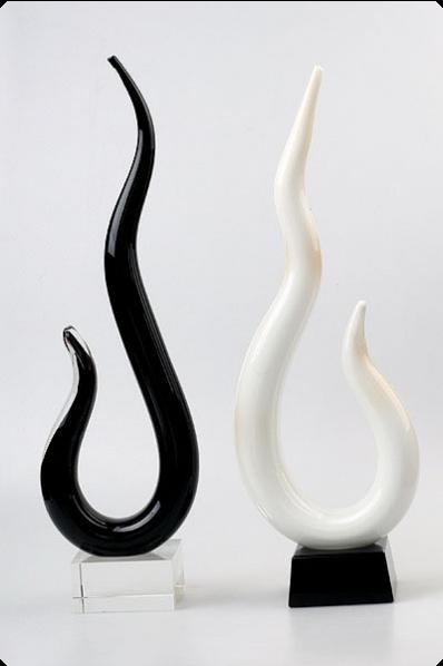 Trophée en verre :  Serpent en verre