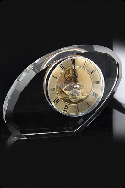Trophée en verre : Horloge 2