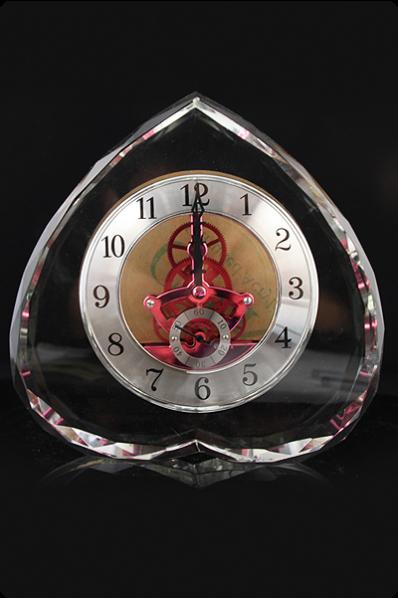 Trophée en verre : Horloge 3