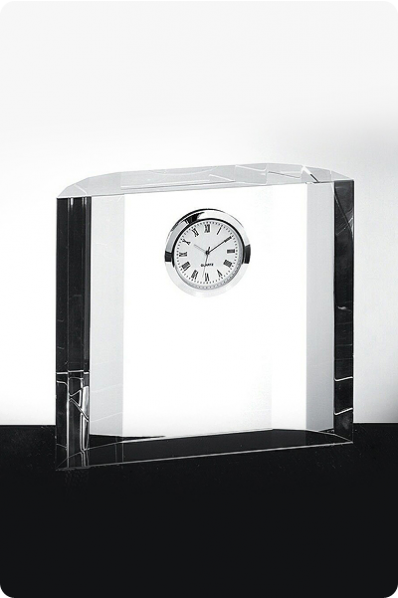 Trophée en verre : Horloge 6