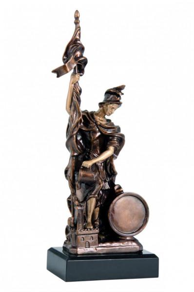 Statuette stylisée en résine