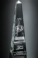 Trophée en verre : Prisme pointu