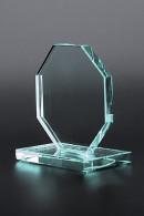 Trophée de verre : Plaque hexagonale
