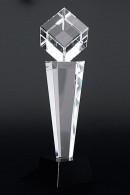 Trophée en verre : Cube sur l'angle