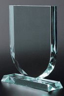 Trophée en verre : Bouclier