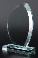 Trophée en verre : Plaque ovale